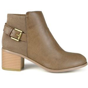 Buckle Strap Accent Ankle Boots